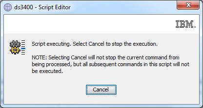ds3400-script-executing
